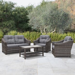 April 4 Piece Sectional Set with Cushions