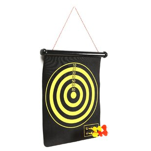 Magnetic Roll-up Dart Board and Bullseye Game with Darts (Set of 2) by Trademark Games