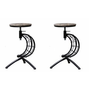 Camptown Adjustable Height Swivel Bar Stool (Set of 2) by