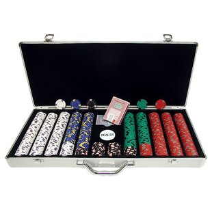 Case with Poker Chip (Set of 650) by Trademark Global