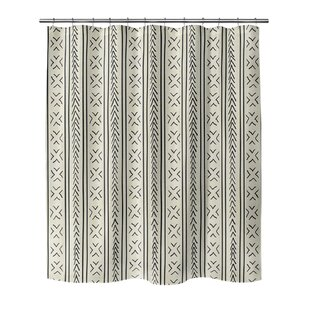 Reviews Adeline Geometric Shower Curtain By Mistana