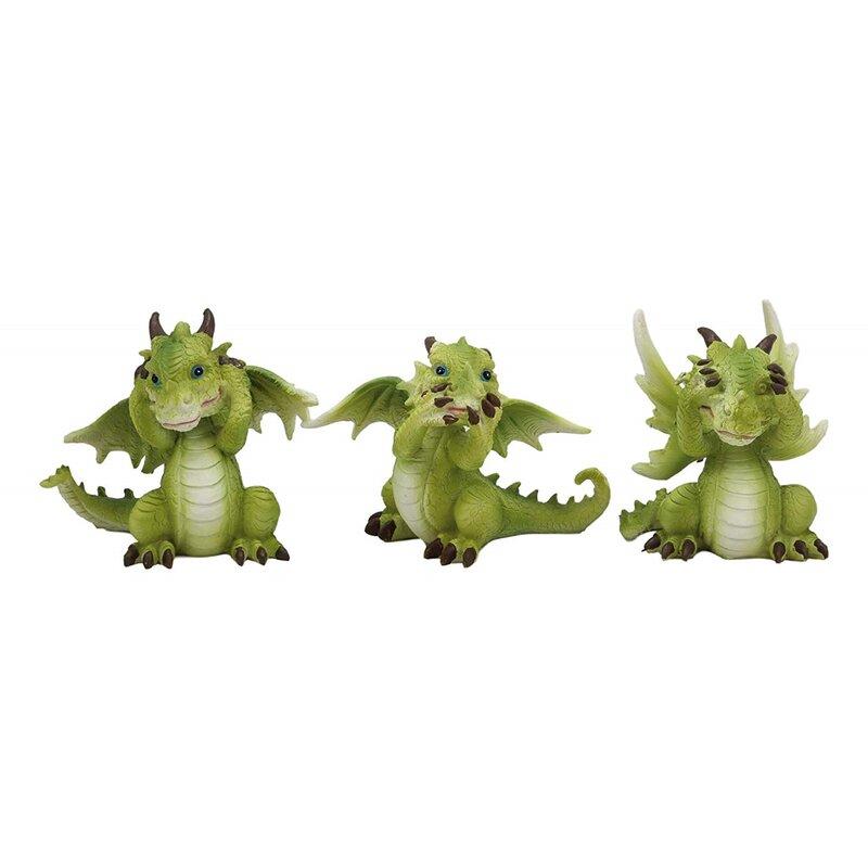 see no Evil Set of Three Wise figurines Hear no Evil speak no Evil