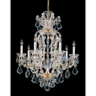 Schonbek chandeliers youll love wayfair maria theresa 8 light candle style chandelier by schonbek aloadofball Choice Image