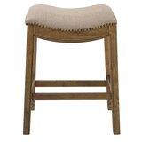 Montserrat Saddle Style Upholstered 25 Counter Stool