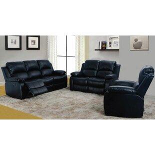 Aarush 3 Piece Reclining Living Room Set by Red Barrel Studio