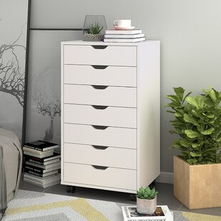 Hamann 7 Drawer Mobile Vertical Filing Cabinet