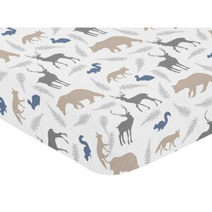 Woodland Animals Fitted Crib Sheet