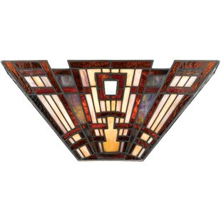 Price comparison Irvin Tiffany 2-Light Wall Sconce By Astoria Grand