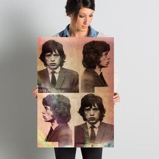 'Mick Jagger' Photographic Print on Wrapped Canvas by East Urban Home
