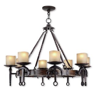 Liam 8-Light Wagon Wheel Chandelier