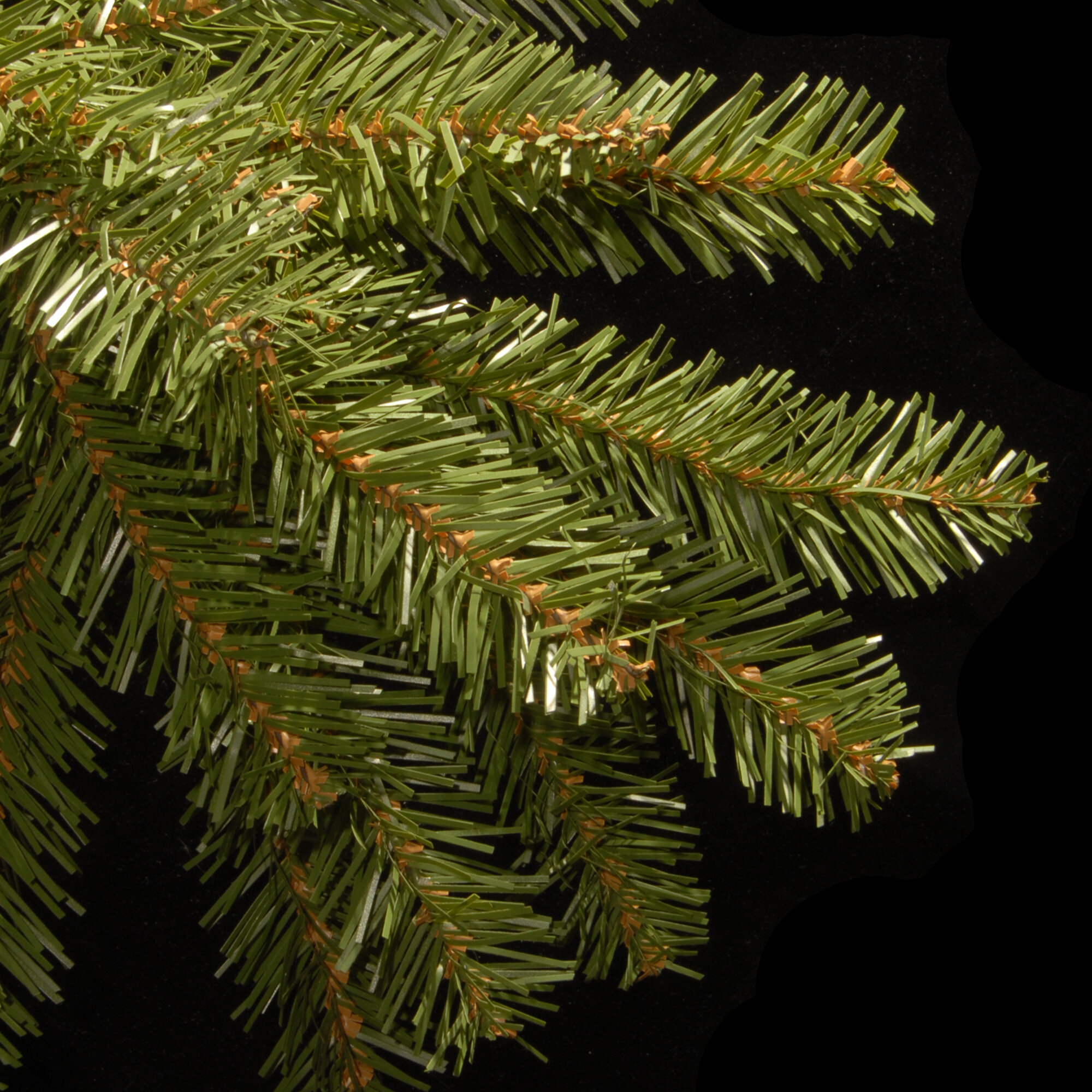 72951635a34 Willa Arlo Interiors Fir 12  Hinged Green Artificial Christmas Tree with 1500  Clear Lights