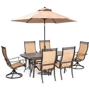 Dubbo 7 Piece Dining Set with Umbrella