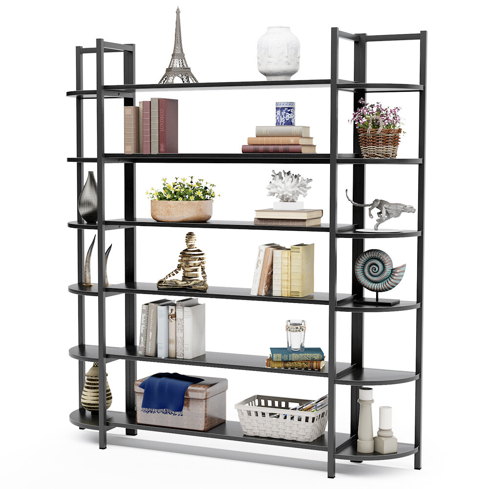 17 Stories Alfon 70 86 H X 62 99 W Steel Etagere Bookcase Reviews Wayfair