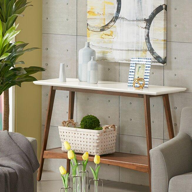 White Console & Sofa Tables You\'ll Love   Wayfair