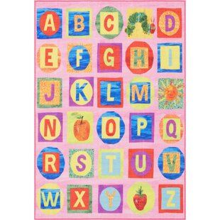 Abcs Educational Pink Area Rug