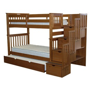 Tena Tall Twin Over Twin Bed with Trundle