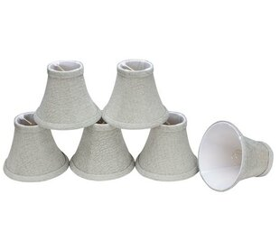 Comparison 6 Fabric Bell Candelabra Shade (Set of 6) By Aspen Creative Corporation