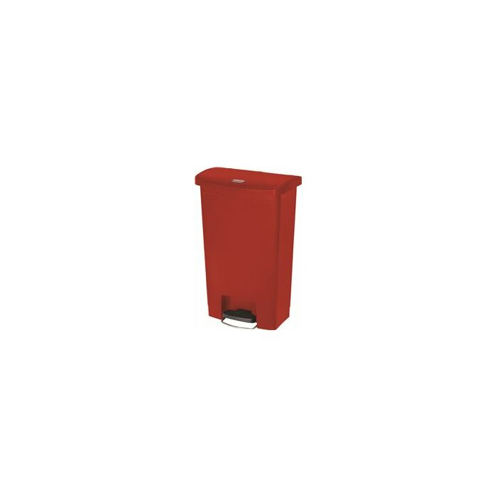 Rubbermaid Commercial Products Slim Jim Resin Front 13 Gallon Step