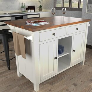 Hearn Extended Counter Kitchen Island