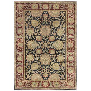 Reviews One-of-a-Kind Hand-Woven Wool Red/Black Area Rug ByCanora Grey