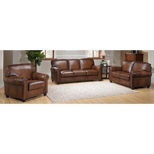 Elmirasol 3 Piece Leather Living Room Set ByLoon Peak