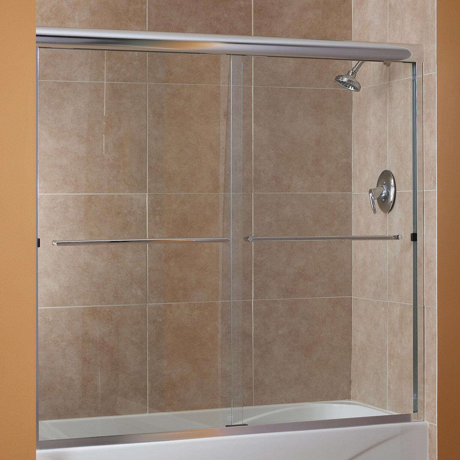 Cove 58 X 55 Bypass Frameless Tub Door