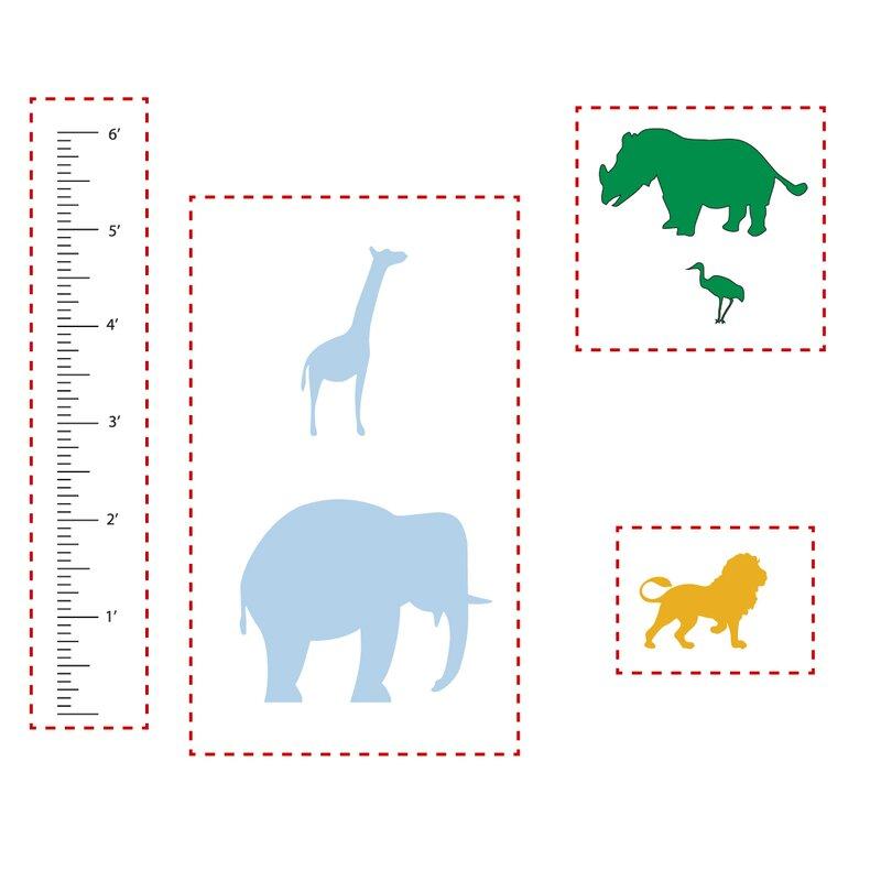 The Decal Guru Animal Growth Chart Wall Decal Wayfair