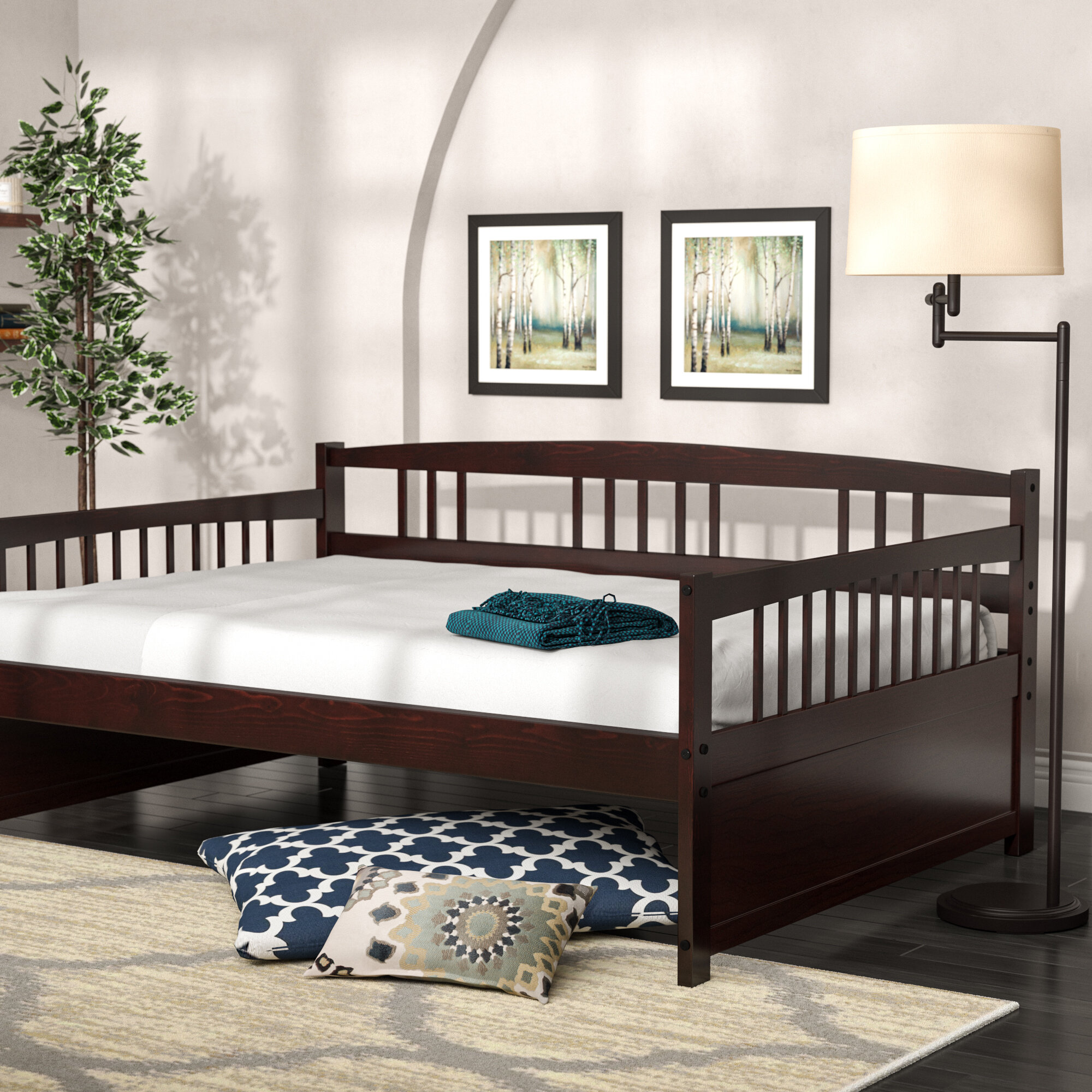 Image of: Alcott Hill Esther Full Daybed Reviews Wayfair