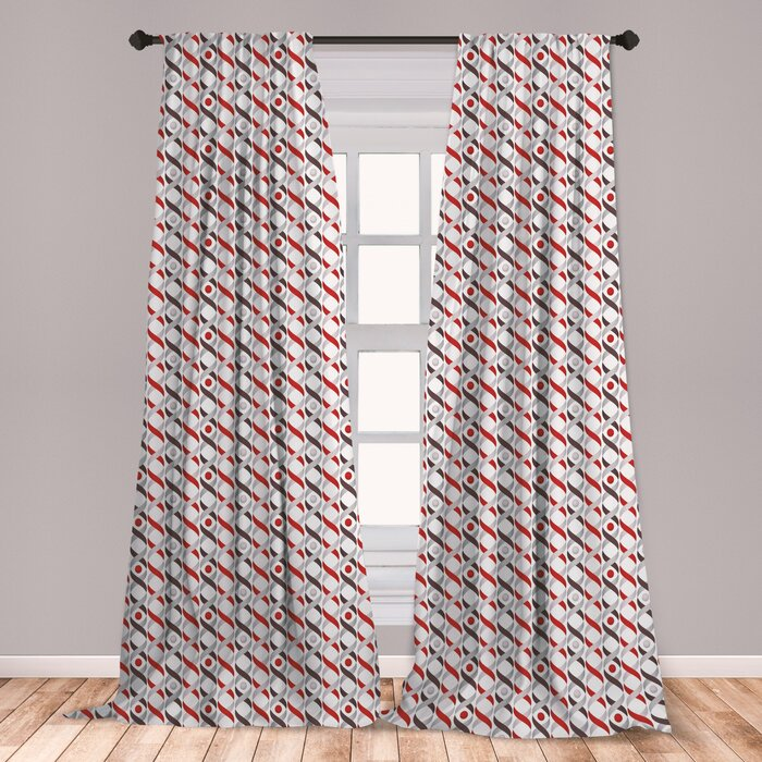 Abstract Room Darkening Rod Pocket Curtain Panels