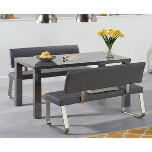 Grey Dining Bench Set Wayfair Co Uk