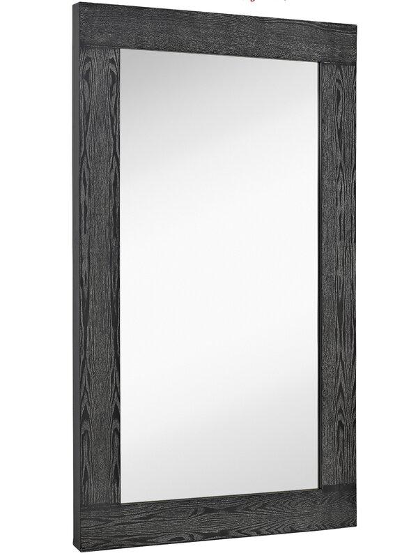 Majestic Mirror Oversized Modern Rectangular Black With White Wash