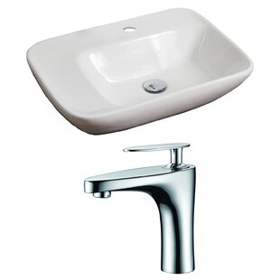 Affordable Ceramic 24 Wall Mount Bathroom Sink with Faucet By American Imaginations