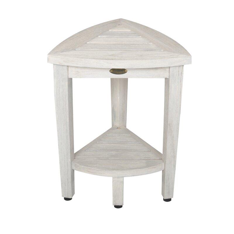 bench with shelf. Oasis Coastal Vogue Compact Teak Corner Shower Bench With Shelf T