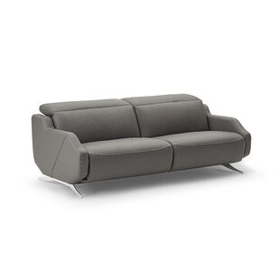Berlinville Leather Reclining Loveseat by Orren Ellis New Design