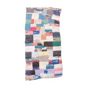 Moroccan Hand Woven Wool Blue/Black Area Rug ByIndigo&Lavender