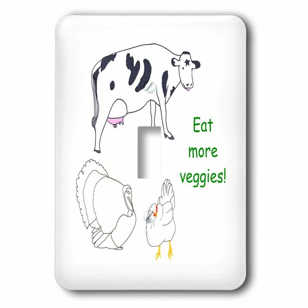 3drose Cow Turkey And Chicken With The Message Eat More Veggies 1 Gang Toggle Light Switch Wall Plate Wayfair
