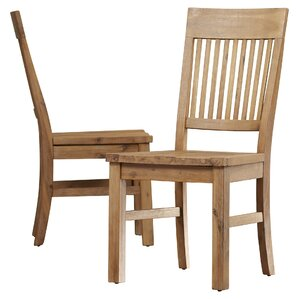 Chugwater Solid Wood Dining Chair (Set of 2) by Loon Peak