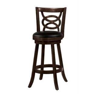 Gaillard 29.25 Swivel Bar Stool (Set of 2) Red Barrel Studio