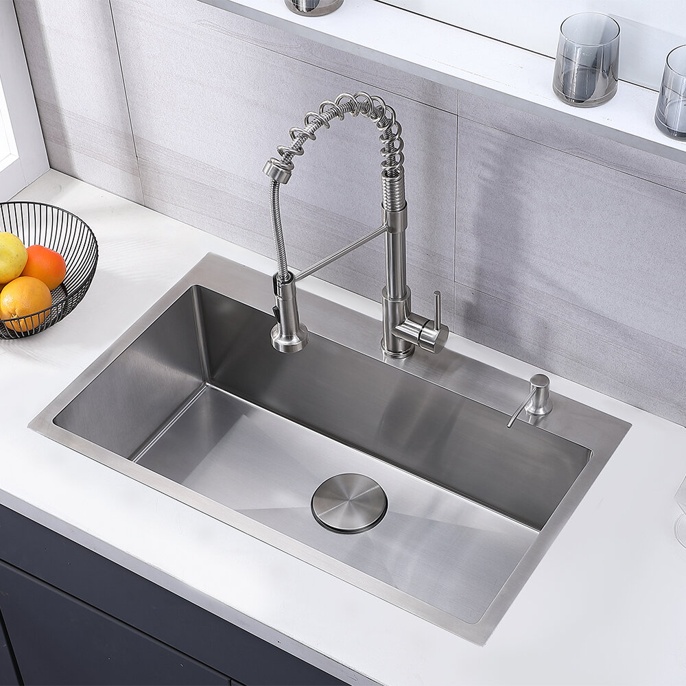 "3"" L x 3"" W Drop-In Kitchen Sink"