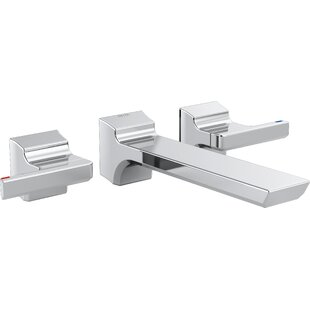 Bargain Pivotal Double Handle Wall Mounted Tub only Faucet Trim ByDelta