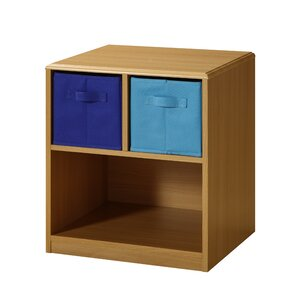 2 Drawer Nightstand in Brown by 4D Concepts