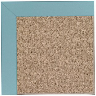 Lisle Machine Tufted Bright Blue/Brown Indoor/Outdoor Area Rug