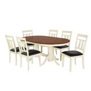 Bellino 7 Piece Extendable Solid Wood Dining Set by August Grove Best #1