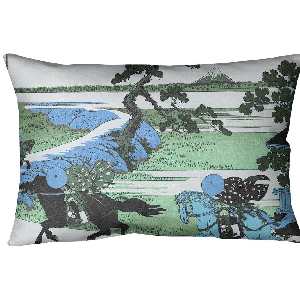East Urban Home Katsushika Hokusai Sekiya Village At Sumida River Lumbar Pillow Cover Wayfair