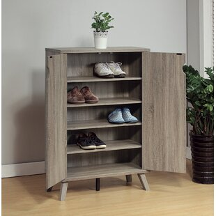 Savings Roomy Shoe Storage Cabinet with Flared Legs By Latitude Run