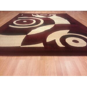 Hand-Carved Red Area Rug