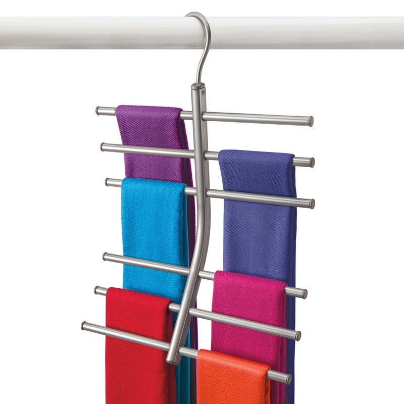 Hanging Tiered Scarf Holder - Closet Hanger - Organizer Rack