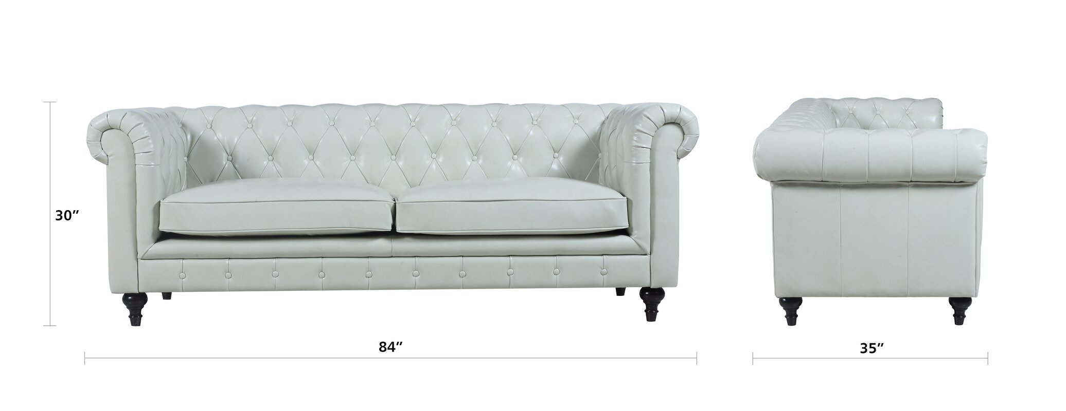Tufted Leather Chesterfield Sofa Reviews Joss Main ~ Tufted Leather Sofa Bed