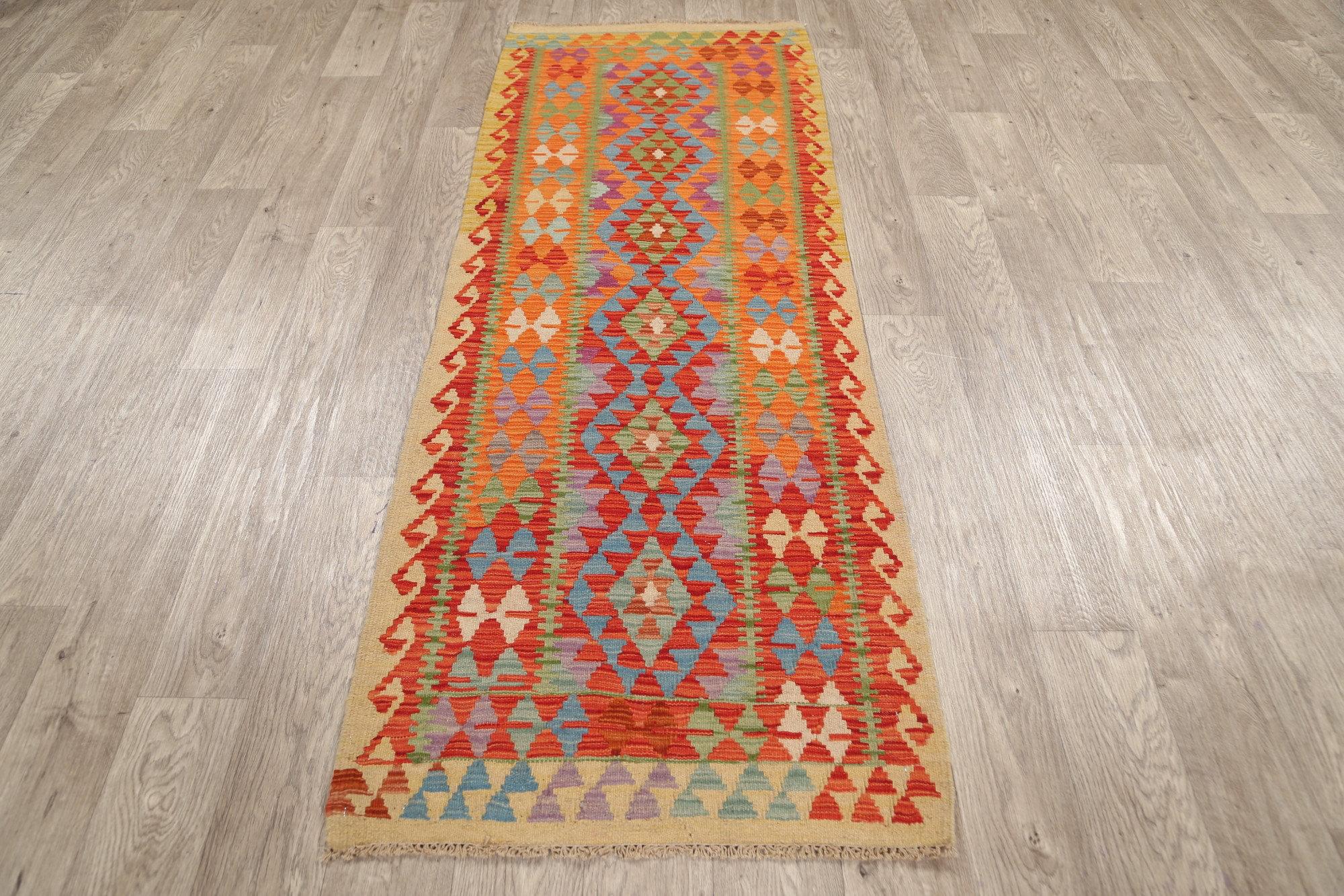 Rugsource Runner Oriental Handmade Kilim Wool Orange Area Rug Wayfair
