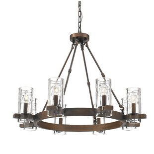 Khan 8-Light Wagon Wheel Chandelier By Union Rustic